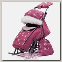 Санки-коляска Pikate Снежинки