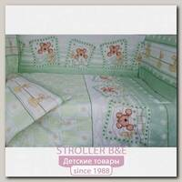 Комплект в кроватку Сонная сказка Зайки в Ромашках, 6 предметов