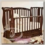 Детская кроватка Красная Звезда Можга Ярослава С 551 продольный маятник аппликация №2 Бабочка