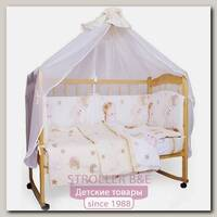 Комплект постельного белья в кроватку AmaroBaby Мишкин Сон, 7 предметов, поплин