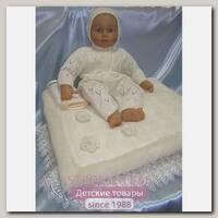 Комплект для новорожденного вязаный Балу Облачко с пледом, зима, 9 предметов