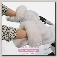 Меховая муфта-рукавички для коляски Esspero Margareta из 100 % натуральной шерсти