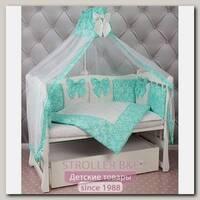 Комплект постели Premium в кроватку AmaroBaby Элит бязь, 18 предметов