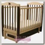 Детская кроватка Соня 05 Лошадка Колор, продольный маятник, с ящиком