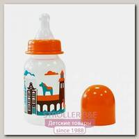 Бутылочка Lubby с соской 'Я люблю', от 0 мес., 125мл., классика, полипропилен
