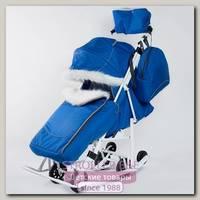 Санки-коляска Pikate Снеговик с опушкой