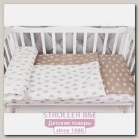 Комплект белья в кроватку WB AmaroBaby Baby Boom Короны, 3 предмета