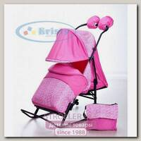 Санки коляска на колесиках Kristy Luxe Comfor