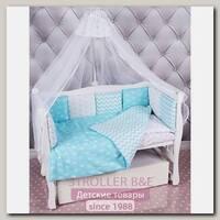 Комплект в кроватку AmaroBaby Royal Baby, 4 предмета, бязь