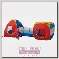 Детская палатка Calida Конус + квадрат + туннель + 100 шаров