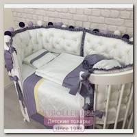 Комплект постели для овальной кроватки Marele, коллекция Роскошь 460246, 11 предметов