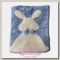 Одеяло-плед вязанный Mam-baby Зайка с бантиком