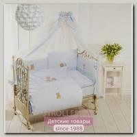 Комплект постельного белья Feretti Sleepy Bears Long 6 предметов борт на всю кроватку