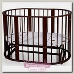 Овальная детская кроватка Nastella Baby Molly 7 в 1, поперечный маятник
