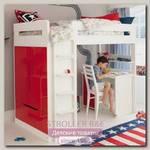 Детская кровать-чердак со столом Leroys V6