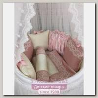 Комплект постели для круглой и овальной кроватки Marele Зефирка 460254-ов, 20 предметов