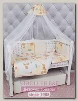 Комплект постельного белья в кроватку AmaroBaby Мишка (6+12 подушек-бортиков)