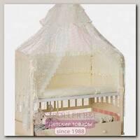 Комплект постельного белья Мой Ангелок Царский Б 2036 в кроватку, 7 предметов