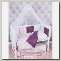 Бортик в кроватку AmaroBaby Амели, 12 подушек, бязь