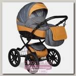 Детская коляска Indigo Camila 18 S Plus 14 2 в 1, ткань+эко-кожа
