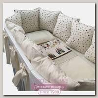 Комплект постели для круглой и овальной кроватки Marele Принцессы 460043-10, 16 предметов