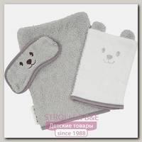 Детский комплект для ванной Tineo: рукавички для мамы + для малыша + защита для глаз
