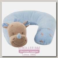 Детская подушка-подголовник Nattou Neck pillow Наттоу Нек пиллоу Arthur & Louis Носорог