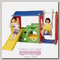 Игровой центр Haenim Toys Дом с горкой и качели DS-703