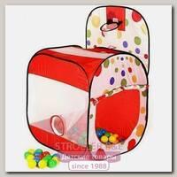 Детская палатка Calida Квадрат с баскетбольным кольцом + 100 шаров