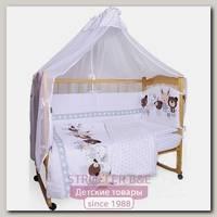 Комплект постельного белья в кроватку AmaroBaby Happy, 7 предметов, сатин
