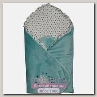 Одеяло-конверт Bambola на липучке, велсофт-минки