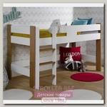 Полувысокая кровать Junior Provence Scandi 90x190 (Blanc/Chene)
