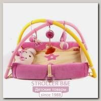 Детский музыкальный коврик Felice F Котёнок, механич. мобиль, подушка-котёнок, игровые дуги + игрушки, 110 х 110 х 45 см