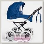 Детская коляска Nastella Luxe Eco 2 в 1, эко-кожа, шасси White