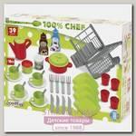 Набор Ecoiffier 100% Chef 2619: сушилка для посуды + посуда, 39 предметов