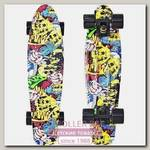 Скейтборд RT Y-Scoo Fishskateboard Print 22' с сумкой, 56,6х15