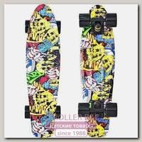 Скейтборд RT Y-Scoo Fishskateboard Print 22' с сумкой, 56,6х15