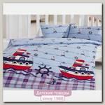 Комплект постельного белья Kidboo TM Ups Pups Кораблики 3 предмета
