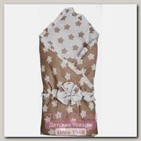 Летнее одеяло-конверт на выписку Bambola Прянички с бантом