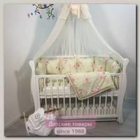 Комплект постели для прямоугольной кроватки Marele Шебби Шик Зеленый 460058-12, 17 предметов