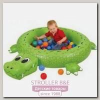 Hадувной сухой бассейн Upright Крокодил + 50 шаров