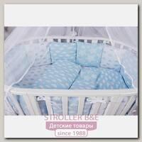 Комплект постели в кроватку AmaroBaby Воздушный, 15 предметов, бязь