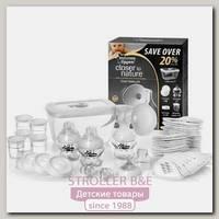 Молокоотсос ручной с набором для грудного вскармливания Tommee Tippee TT42355671
