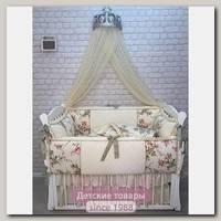Комплект постели в кроватку Marele Цветы 460033, 11 предметов