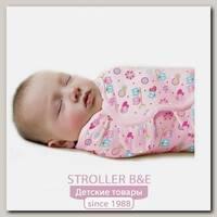 Конверт для пеленания из хлопка на липучке Summer Infant SwaddleMe размер s/m розовый с сердечками