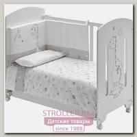 Сменный комплект белья Micuna Dinus Gris Микуна Динус Грис TX-821 в кроватку 120 х 60 см, 3 предмета