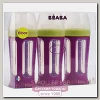 Набор из 3-х бутылочек для кормления Beaba Biboz 210 мл