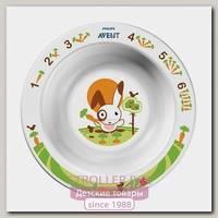 Глубокая тарелка Avent малая 6 м+