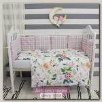 Комплект в кроватку ByTwinz Колибри с бортиками-подушками (6 предметов)