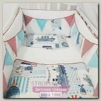 Комплект в кроватку ByTwinz Морская История, 6 предметов